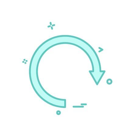 Refresh icon design vector Vector Illustration