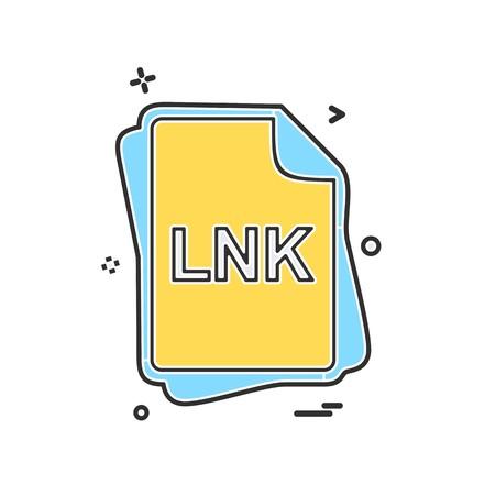 LNK file type icon design vector