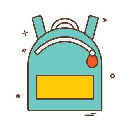 School bag icon design vector