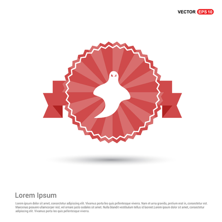 Ghost icon - Red Ribbon banner