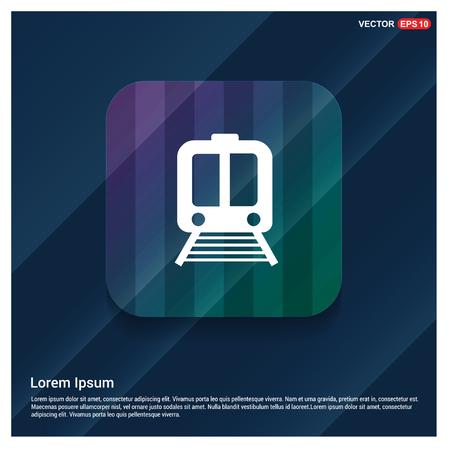 Railroad track icon - Free vector icon Illustration