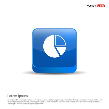 Pie chart - 3d Blue Button.