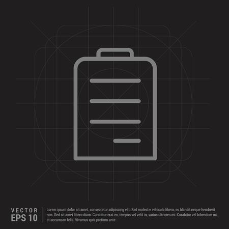 Pencil, note icon - Black Creative Background - Free vector icon