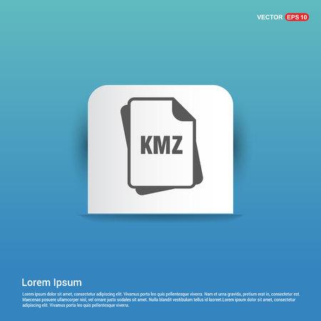 file format icon. - Blue Sticker button Imagens - 118264420