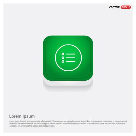 menu iconGreen Web Button - Free vector icon Vecteurs