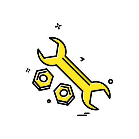 wrench net icon vector design Stok Fotoğraf - 118264480