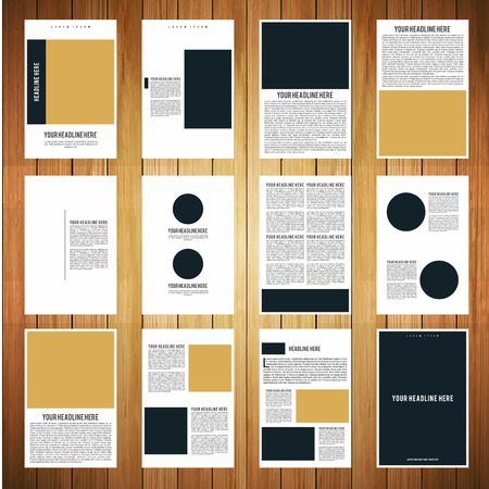 Company business brochure design vector Illustration
