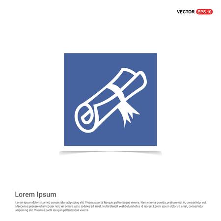 Scholarship stamp Icon - Blue photo Frame Ilustración de vector