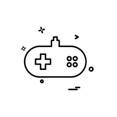 Game remote icon design vector