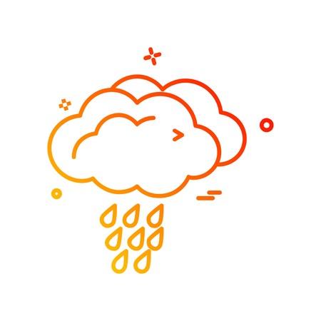 Weather icon design vector Vector Illustration