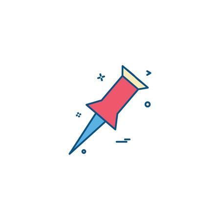 pin paper icon vector design