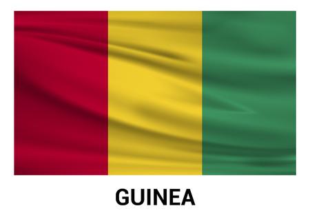 Guinea flags design vector