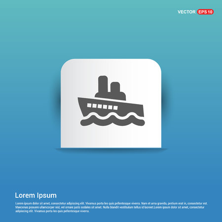 Ship icon - Blue Sticker button