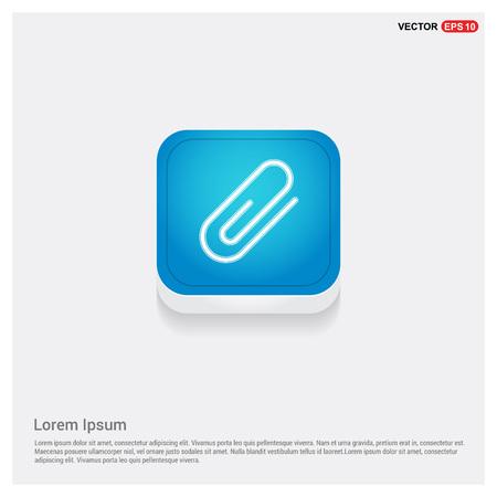 Attach paper clip icon Stock Vector - 118265498