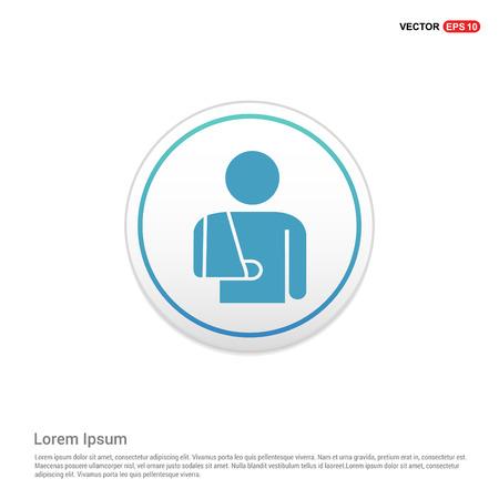 patient, icon - white circle button