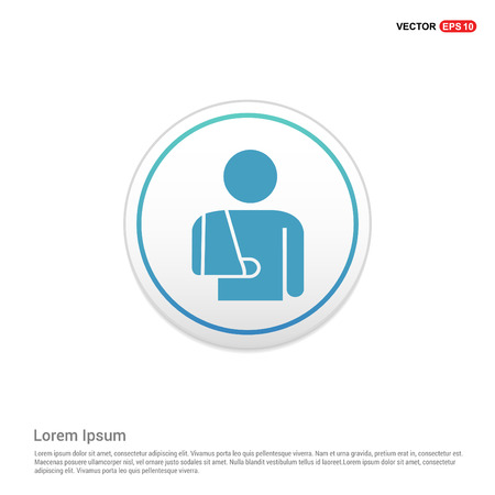 patient, icon - white circle button