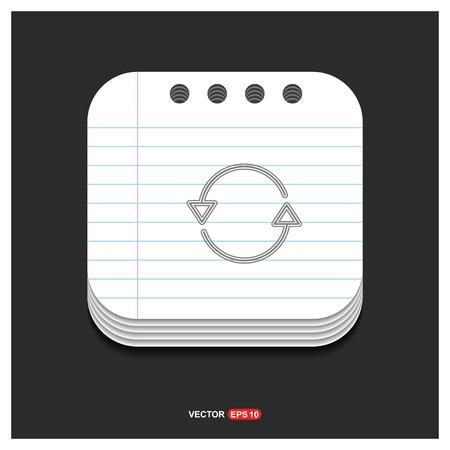 Reload icon - Free vector icon Vector Illustration
