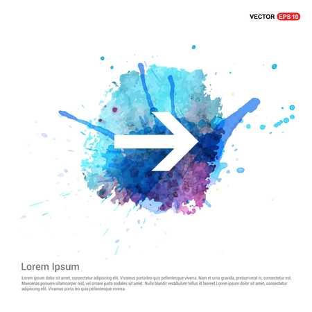 Next Arrow Icon - Watercolor Background Ilustración de vector