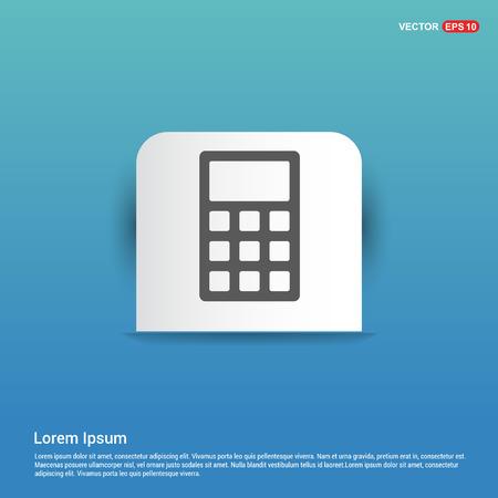 Electronic calculator icon - Blue Sticker button