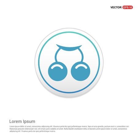 summer grape Icon - white circle button