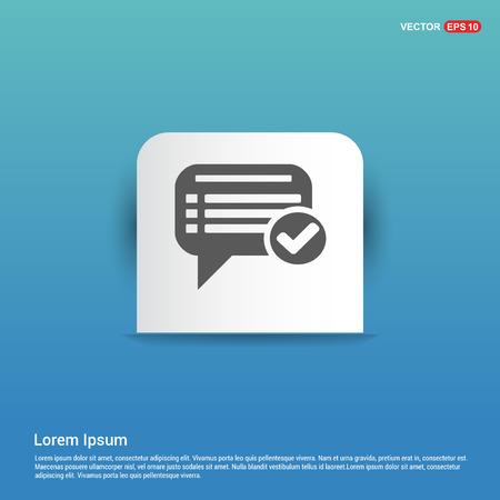 Ok Chat Speech Bubble - Blue Sticker button  イラスト・ベクター素材