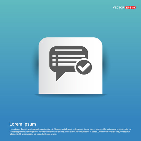 Ok Chat Speech Bubble - Blue Sticker button Illustration
