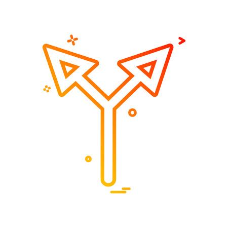 arrow up two way icon vector design