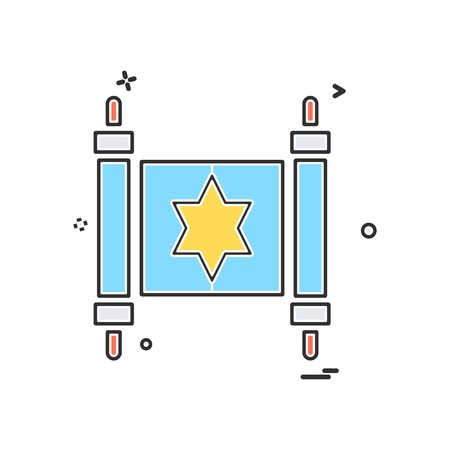 Jewish icon design vector