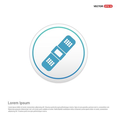 Bandage icon - white circle button Stock Illustratie