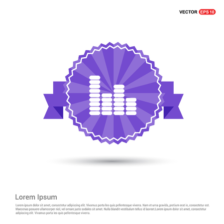 Equalizer icon - Purple Ribbon banner