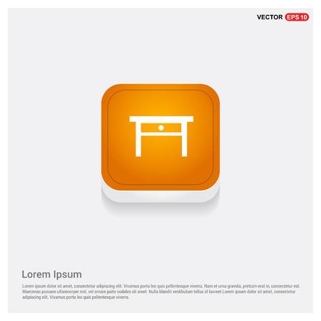 Table Icon Orange Abstract Web Button - Free vector icon