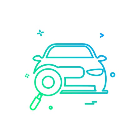 auto workshop search car icon vector design Foto de archivo - 110634458