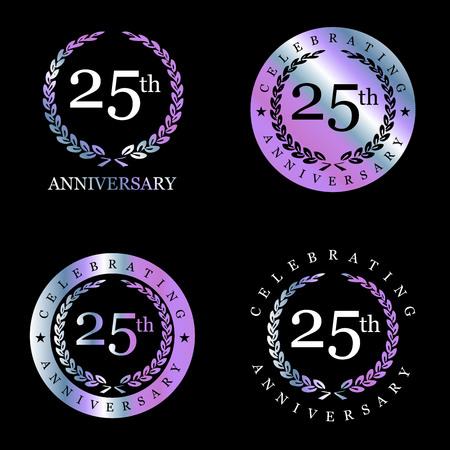 Celebrating anniversary badges with elegent design vector