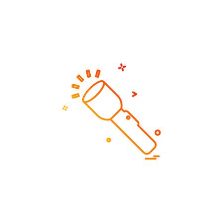 flash torch light icon vector design Vettoriali