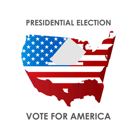 USA Presidential Election design vector Ilustração Vetorial