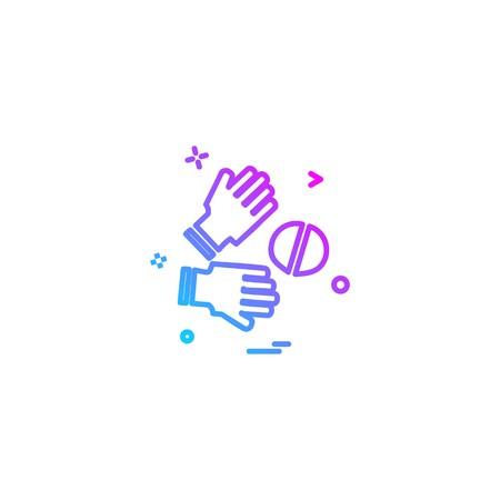 Catch cricket  gloves  wicketkeeper icon vector design 写真素材 - 110635711