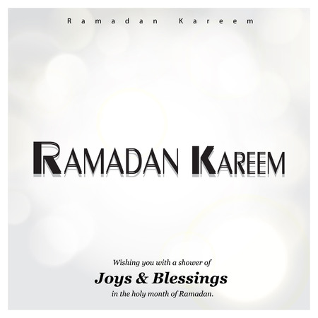 Ramadan Kareem cards with creative design vector