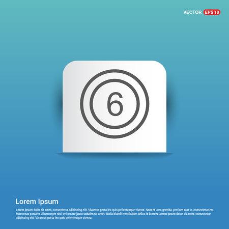 Cricket 6 Icon - Blue Sticker button