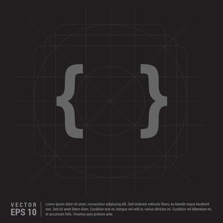curly bracket icon Illustration