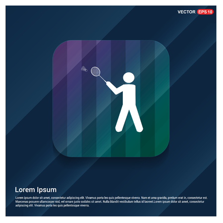 Bedminton Player Icon - Free vector icon