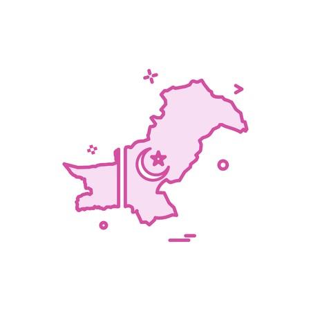 map pakistan  icon vector Ilustração