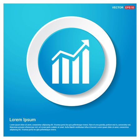 Business graph icon Abstract Blue Web Sticker Button - Free vector icon