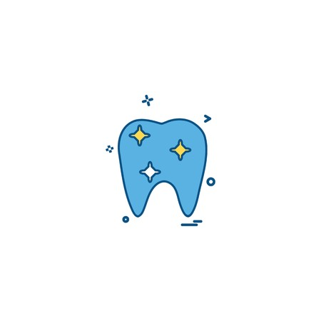 dental dentist medical orthodontic orthodontics tooth icon vector desige Illustration