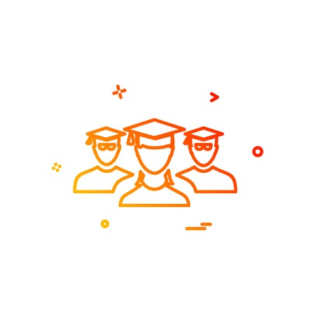 student group icon design vector