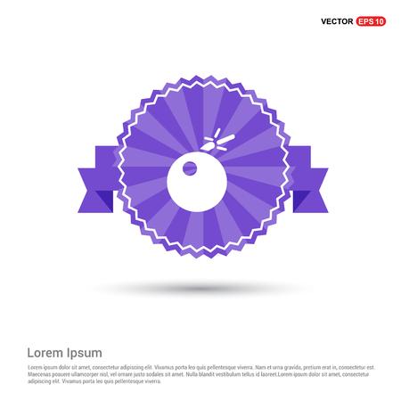 BOMB icon - Purple Ribbon banner Illustration