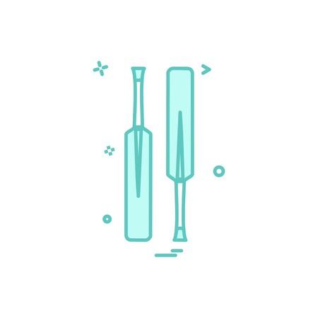 bat bats cricket icon vector design Illustration
