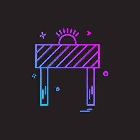 road blocker icon vector design Иллюстрация