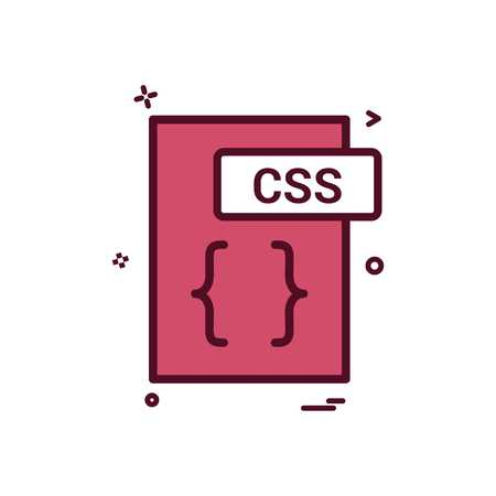 css file format icon vector design