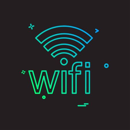 Wifi icon design vector