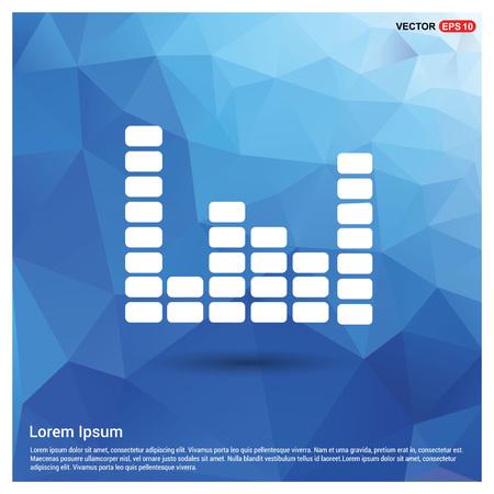 Music sound wave icon Illustration